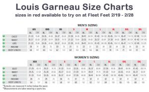 Louis Garneau Size Charts