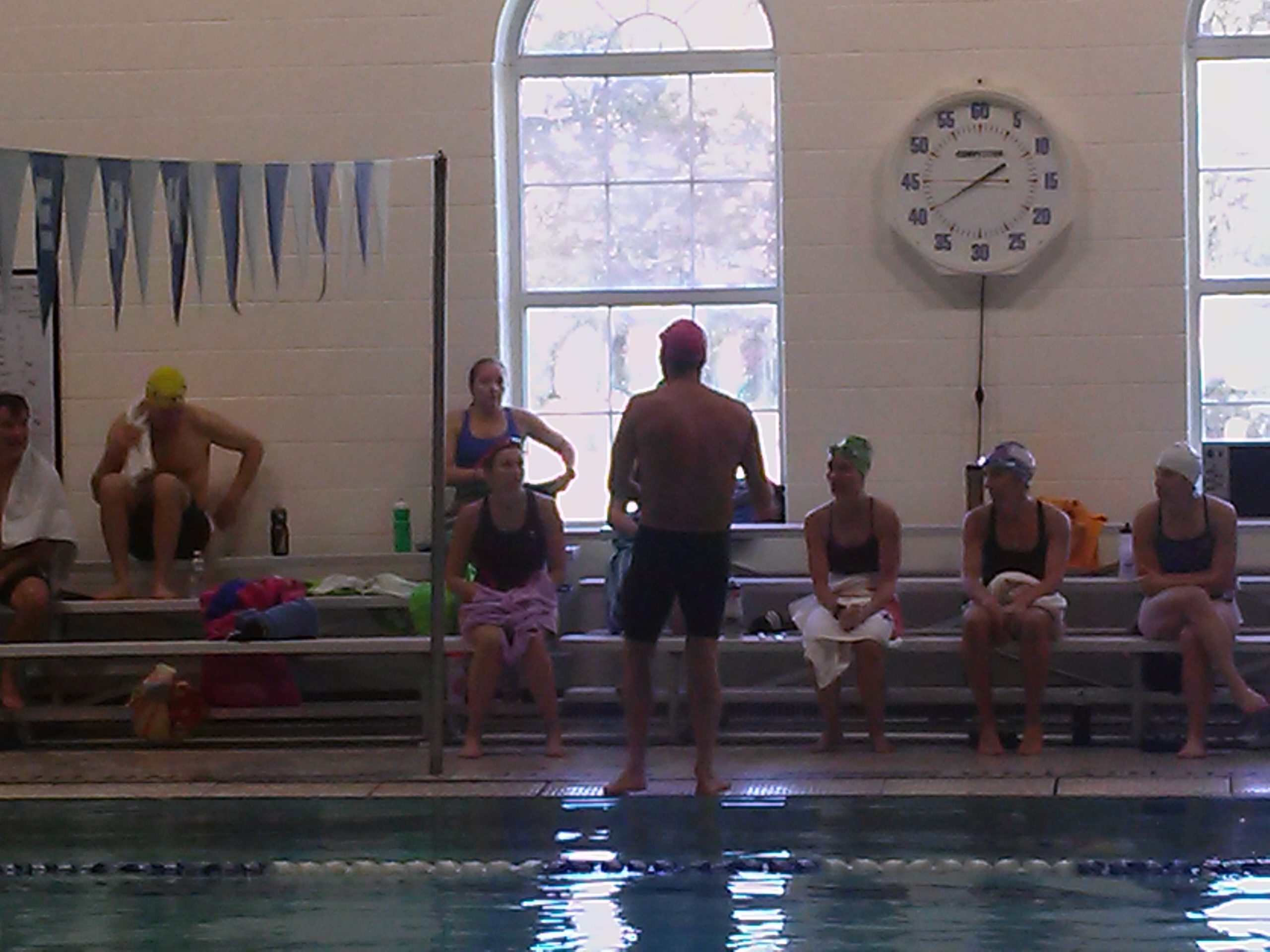 Jeff Stuart coaches the HEAT swim program