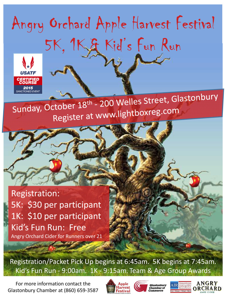 Angry Orchard Apple Harvest 5K/1K/Kids Run @ Glastonbury | Connecticut | United States